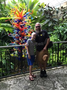 Nicky & Wayne Sorbelli having fun & exporing Fairchild Tropical Garden, Miami