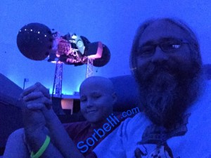 Nicky & Wayne Sorbelli experience the  Planetarium at the Miami Science Museum